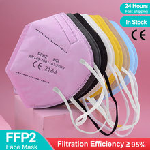 5-100 Pieces CE FFP2 MASK KN95 Mascarillas Approved hygienic Filter Respirator Mouth Masks Adult FFP2MASK Protective Face Mask