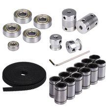 3D Printer Parts Reprap Movement Kit GT2 Belt Timing Pulley 608ZZ Bearing LM8UU 624ZZ Bearing Coupler Shaft 5*5 or 5*8