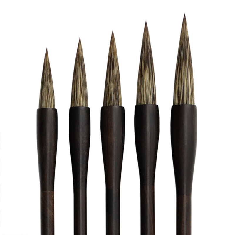 5pcs Chinese Traditional Painting Stone Badger Hair Brush Pen Set Landscape Drawing Ink Watercolor Oil Paint Caligrafia Practice