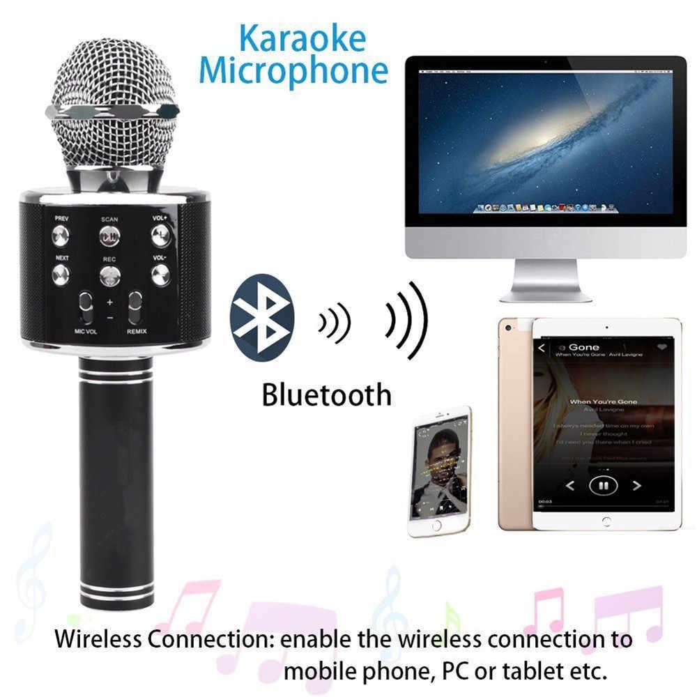 WS 858 micrófono inalámbrico USB condensador profesional micrófono de karaoke bluetooth stand radio mikrofon grabación de estudio WS858