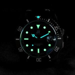 Image 5 - San Martin Diverนาฬิกาขัดสแตนเลสเซรามิคผู้ชายนาฬิกาSapphireสายหนังกันน้ำ