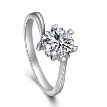 Classic 925 sterling silver 1ct 2ct 3ct Round Brilliant Cut Moissanite Ring Diamond jewelry ring Engagement Anniversary Ring staryee charles colvard 1ct princess cut moissanite ring real platinum designer fine jewelry for women 0 3ct diamond accents
