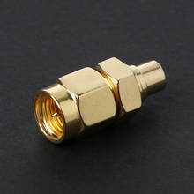 SMA Male Plug To MCX Female Jack RF Coax Adapter Connector Straight Goldplated  1pc sma male plug rf coax connector pcb cable straight goldplated new wholesale