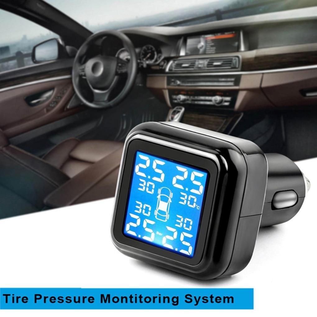 Portable Universal Wireless Truck Tire Pressure System 4 Sensor Auto Tire Pressure Tester Detector|Tire Pressure Monitor Systems| |  - title=