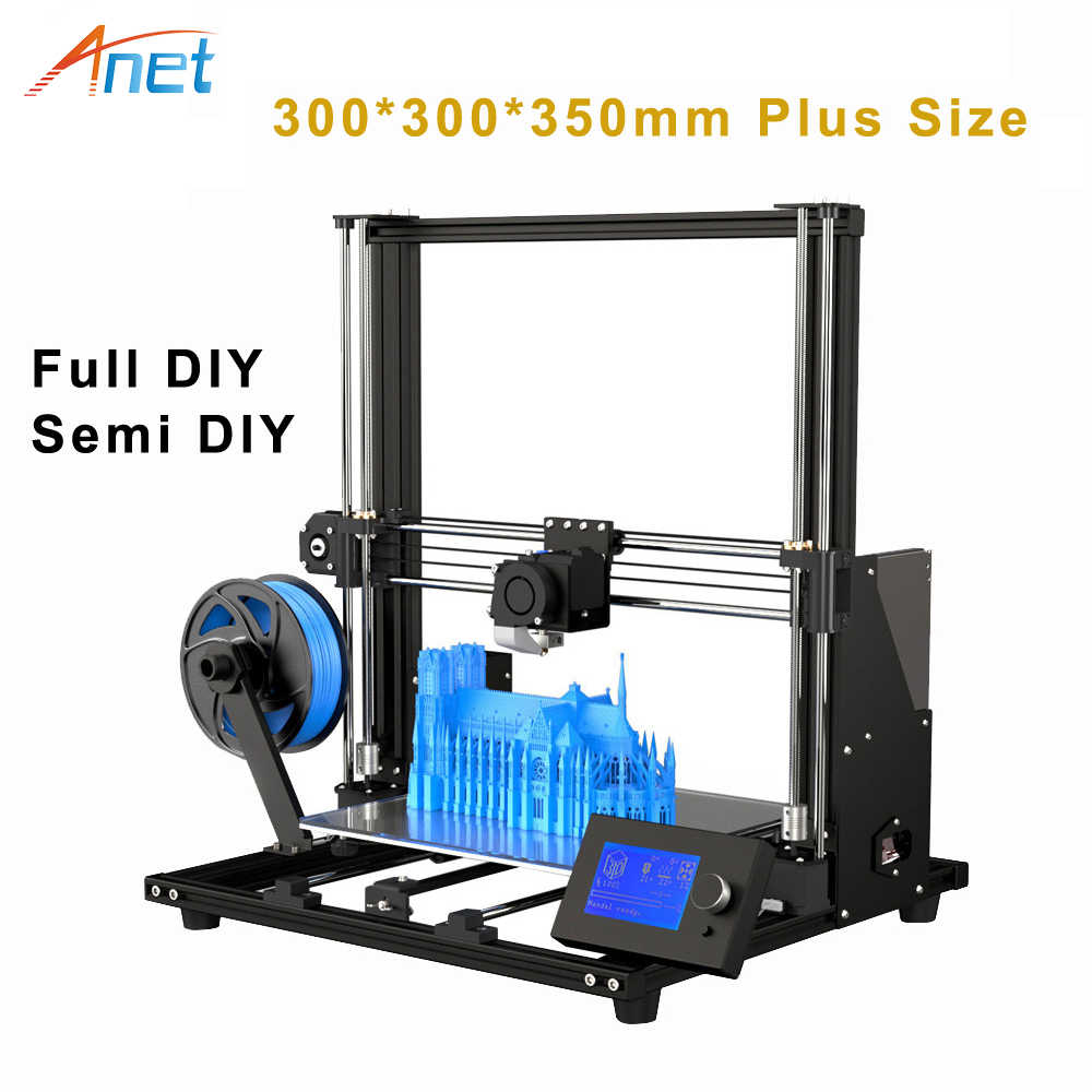 Anet A8 Plus Fdm 3d Priner Diy Pre-Assembleren Printer Hoge Precisie Exturder Nozzle Printer Prusa I3 3d Printer met Pla Filament