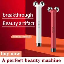 Microcurrents Roller for Face Gouache Scraper for Face Skin Care Tool Facial Massager V Face Massager for Face Lift Machine