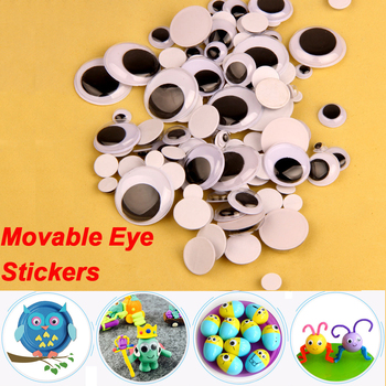 Activity Movable Eye Sticker with Gum Childhood Education Environmentally Accessories Black And White Toy DIY Fine Art Material - discount item  40% OFF Classic Toys