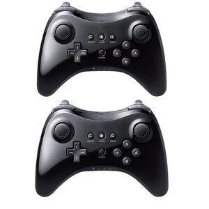 Image 1 - Czarny klasyczny podwójny analogowy bezprzewodowy pilot Bluetooth U Pro kontroler do gier Gamepad do Nintendo na Wii U