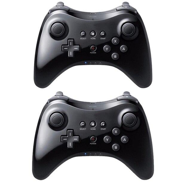 Czarny klasyczny podwójny analogowy bezprzewodowy pilot Bluetooth U Pro kontroler do gier Gamepad do Nintendo na Wii U