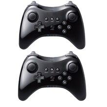 Schwarz Klassische Dual Analog Drahtlose Bluetooth U Pro Game Controller Gamepad für Nintendo Für Wii U