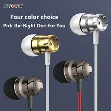 ספורט ב אוזן אוזניות עם מיקרופון 3.5mm Wired סטריאו אוזניות דיבורית אוזניות אוזניות עבור Mp3 נגן iPhone Xiaomi נייד טלפון