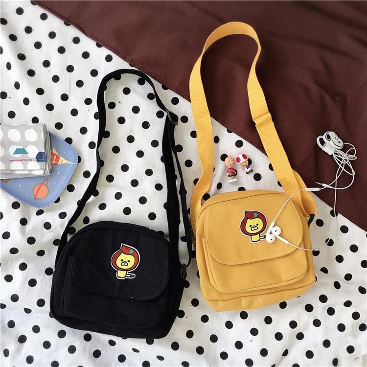 Shoulder Bag WomenS Large Bag Korean Style Students Simple Versatile New Style Hipster College Style Canvas Bag Handbag