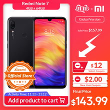 Xiaomi Redmi Note 7 4GB 64GB CDMA/CDMA2000/LTE/.. Quick Charge 4.0 Gorilla Glass Octa Core