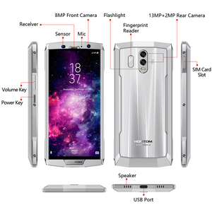 Image 5 - Global version HOMTOM HT70 10000mAh Big battery 4GB 64GB Mobile Phone MTK6750T 6.0 inch HD+ Octa core  Fingerprint smart phone