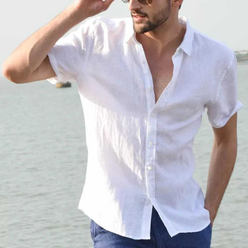 Kısa kollu erkek gömlek yaz düğme yukarı gömlek erkekler artı boyutu 3XL üst Tee kıyafet giyim avrupa Mans Streetwear 2020 B669