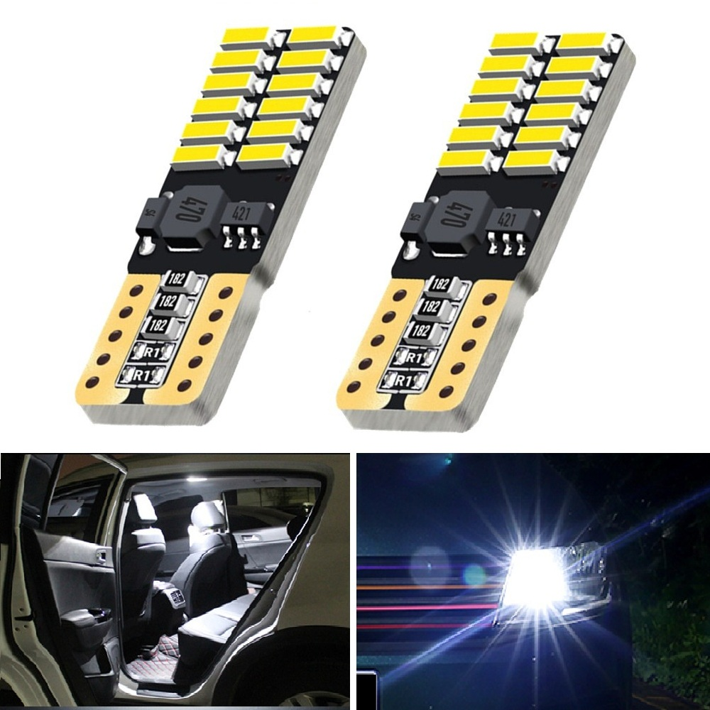 OXILAM 2x Canbus T10 <font><b>LED</b></font> Error Free Car Parking Light 12V For <font><b>Peugeot</b></font> 206 308 407 207 3008 406 <font><b>208</b></font> 508 301 2008 408 306 106 607 image
