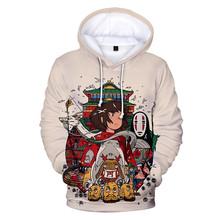 Anime Spirited Away Totoro bluza z kapturem 3D damska bluza z długim rękawem męska bluza z kapturem Unisex Streetwear ubrania w stylu Harajuku Plus rozmiar tanie tanio Nifineo CN (pochodzenie) Pełna Na co dzień REGULAR 3dwy-2289 Bluzy Brak STANDARD COTTON Poliester NONE women men boys girls
