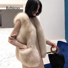 Fur jacket female sleeveless fox fur vest short paragraph 2019 autumn and winter new plush fashion