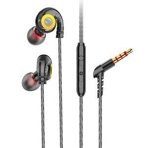 Проводные наушники 6D стерео бас музыкальные наушники спортивные HiFi звуковая гарнитура с микрофоном шумоподавление наушники для Xiaomi Huawei