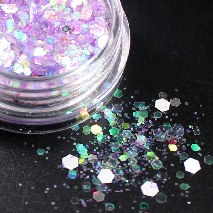 1Box Violet Sneeuw Holografische Pailletten Glitter Shimmer Diamond 15 Kleur Eye Shiny Skin Markeerstift Gezicht Glitter Festival Make-Up