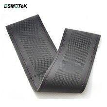 DSMOTEK – housse de volant de voiture universelle, en cuir microfibre, souple, avec aiguilles et fil, de 38CM
