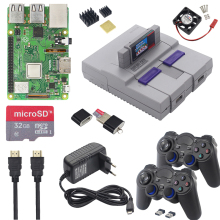 Raspberry Pi 3 Model B Plus Gaming Kit + Voeding + Sd-kaart + Hdmi Kabel + Heatsink + retroflag Nespi Case Voor Retropie 3B Plus/Pi 3B +