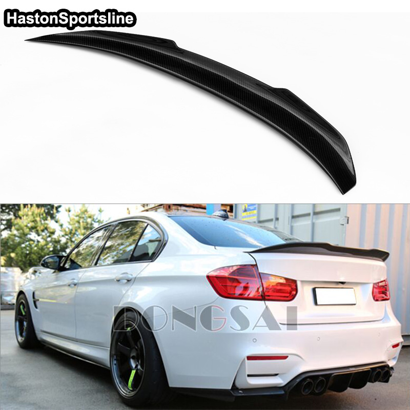Image 3 - F36 Grand Coupe 4Door PSM Style Carbon Fiber Auto Car Rear Trunk Spoiler Wing for BMW F36 2014 2017trunk spoiler wingspoiler wingtrunk spoiler -