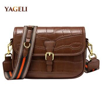 2020 Genuine Leather Chain Shoulder Bags for Women Luxury Handbags Women Bags Designer Crocodile Shoulder Messenger Bag for Lady