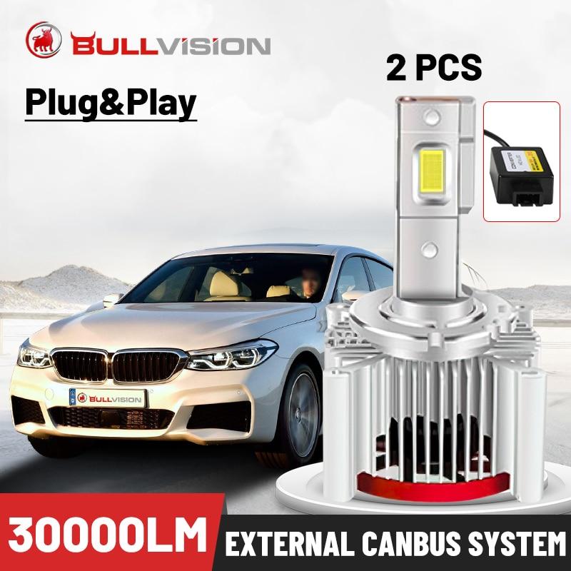 Bullvision LED D1S Scheinwerfer 30000LM Canbus Fehler Freies HID D2S D3S D4S D5S D8S D1R D2R D3R D4R CSP Chip externe Fahrer Plug & Play