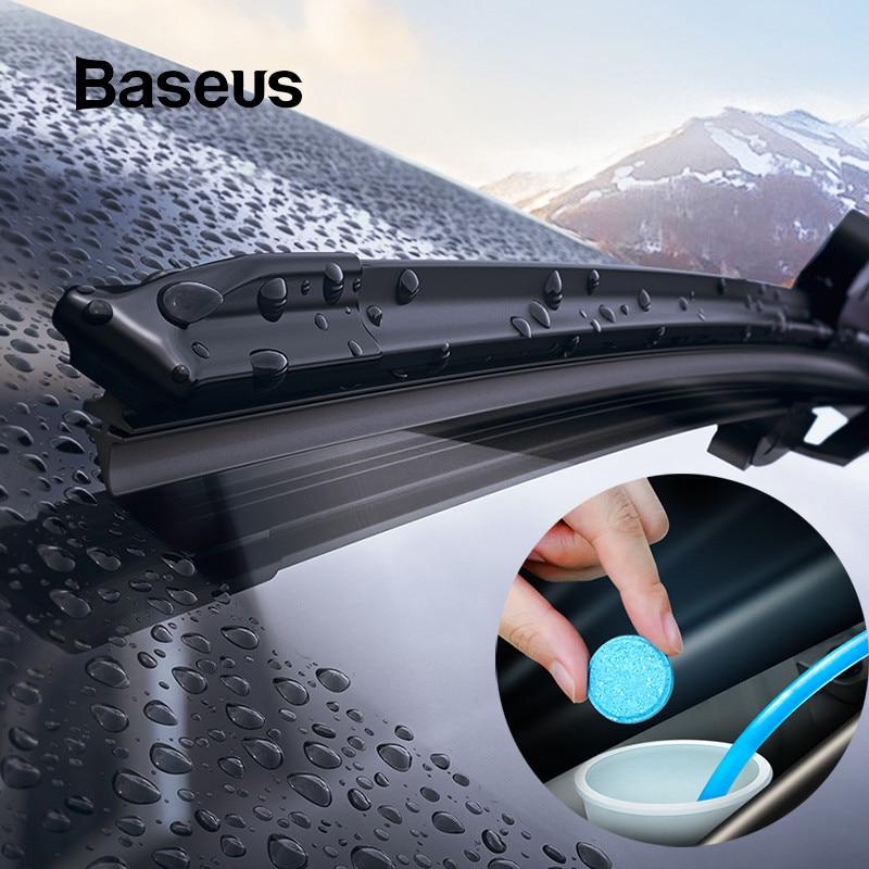 BASEUS 12PCS กระจกรถยนต์กระจก Solid ทำความสะอาด Wiper เครื่องซักผ้าอัตโนมัติทำความสะอาดหน้าต่าง Fine Seminoma Wiper ร...