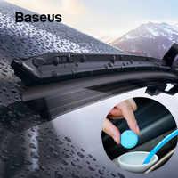 Baseus 12 pçs pára-brisa do carro de vidro sólido limpador limpador arruela janela auto limpeza fina seminoma limpador acessórios do carro