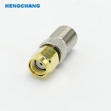 цена на F Type Female Jack to SMA Female Plug Straight RF Coax Adapter F connector to sma Convertor