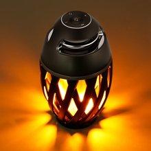 LED Flame Light Bluetooth Speaker,Wireless Speaker Portable Loudspeaker Player LED  Flame Torch Light Flicker Light Soundbar