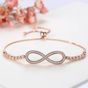 Image 5 - TONGZHE Bracelets en argent Sterling 2019 925 pour hommes, sans fin, or Rose, bijoux à breloques Infinity Tennis Bracelets pour femme