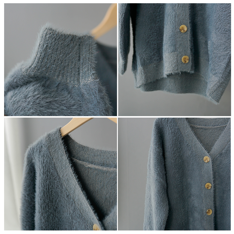 toppies Winter Cardigan sweater Women Coat Faux Fur Knitted Sweater Korean Button Cardigan Soft Warm Women