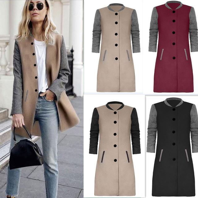CHAMSGEND Coat Female Women Warm Slim Jacket Long Sleeve Thick Overcoat Winter Outwear Hooded Zipper Plus Size Coat 1121