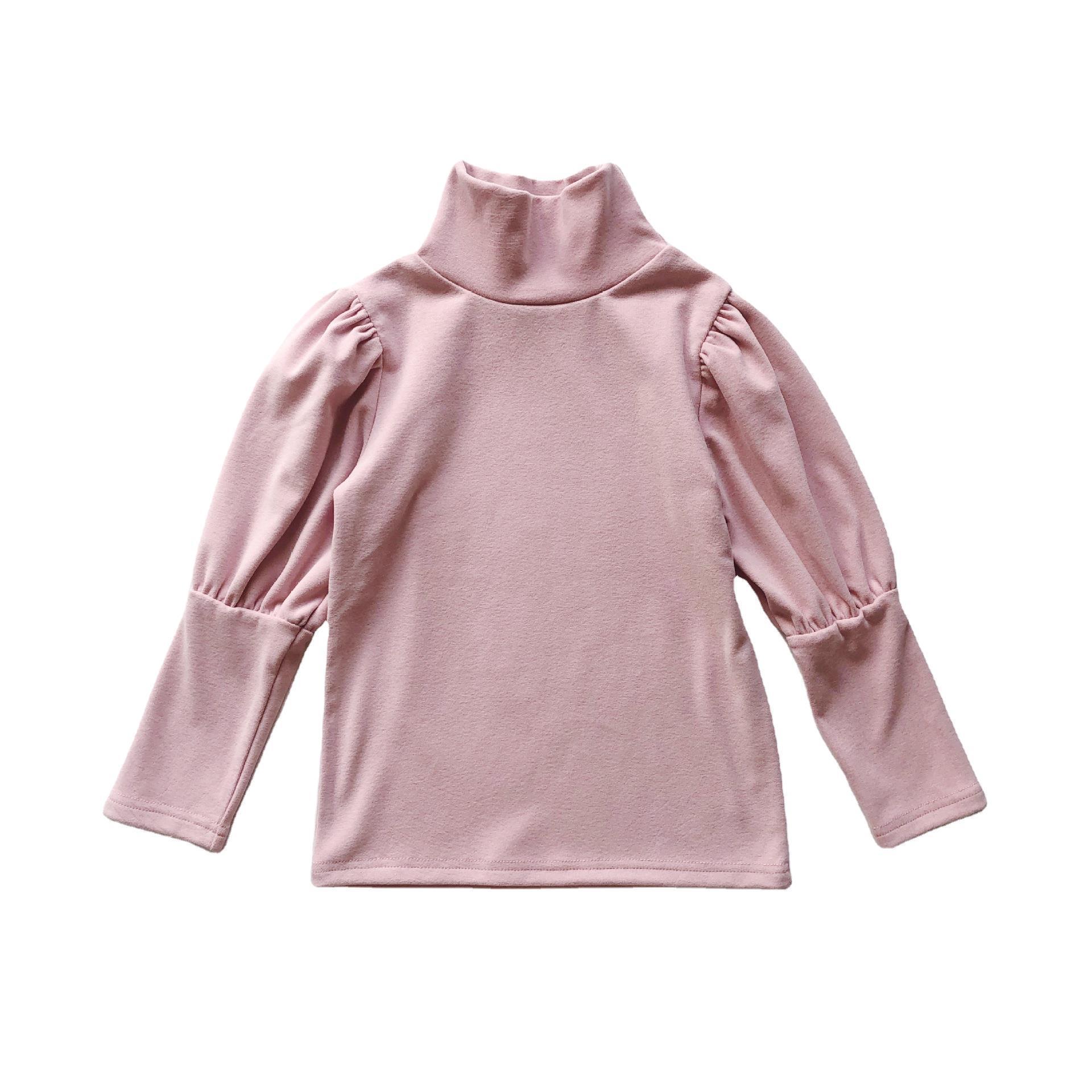 2021 Autumn New Arrival Girls Long Sleeve Cotton T Shirt Kids Puff Sleeve T Shirt  Princess T Shirt 5