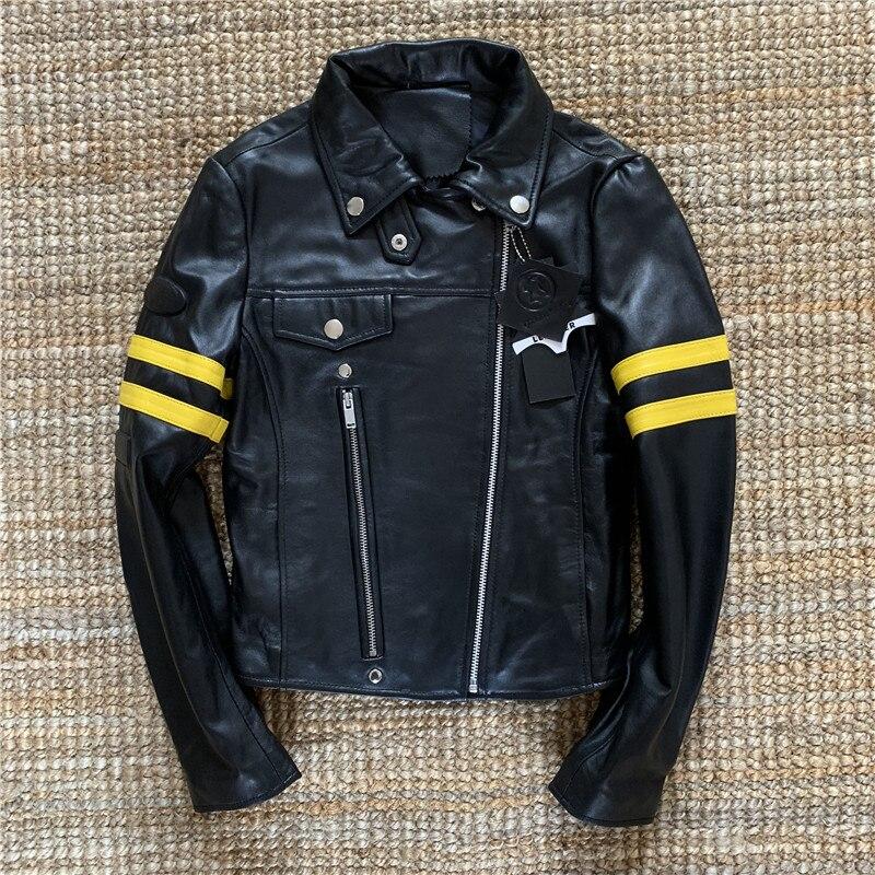 Factory 2019 TOP Women Cheap Clearance Genuine Leather Jacket Fashion Sheepskin Female Short Slim Biker Jackets Free Shipping