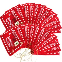 22 Pieces Of Christmas Envelope Card Pack To Santa Claus Candy Gift Bag Money Card Gift Holder Tree Ornament