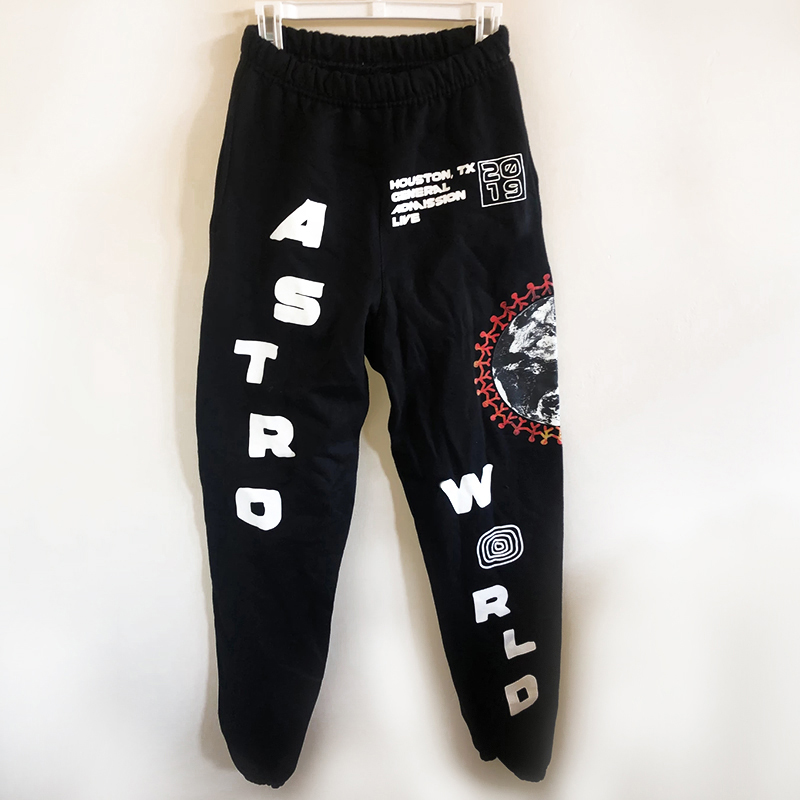 Travis Scott Cactus Jack Festival World Globe Sweatpants Kanye West 1:1 Streetwear ASTROWORLD Casual Joggers Trousers Pants