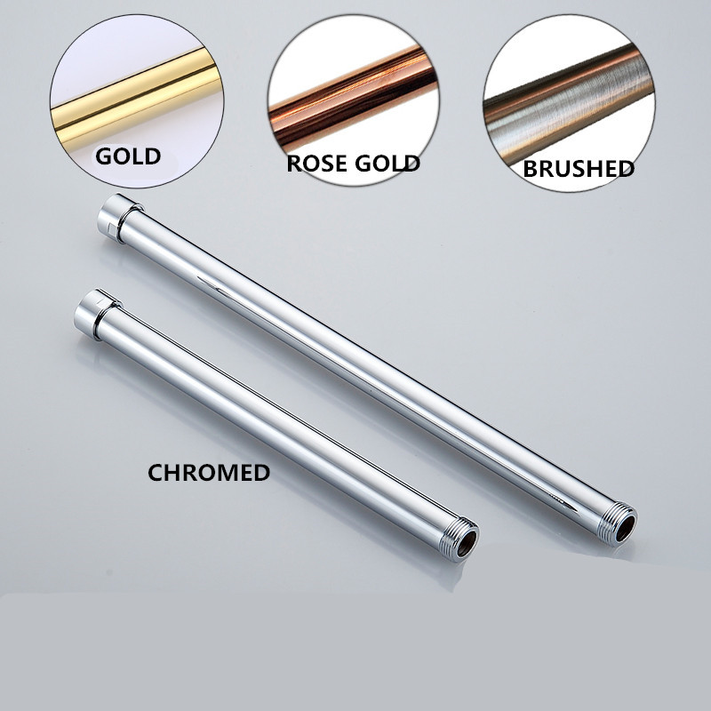 3 4 Gold Rose Gold White Black Brushed Antique Color Brass shower extension tube lifting bar extension pipe sliding bar