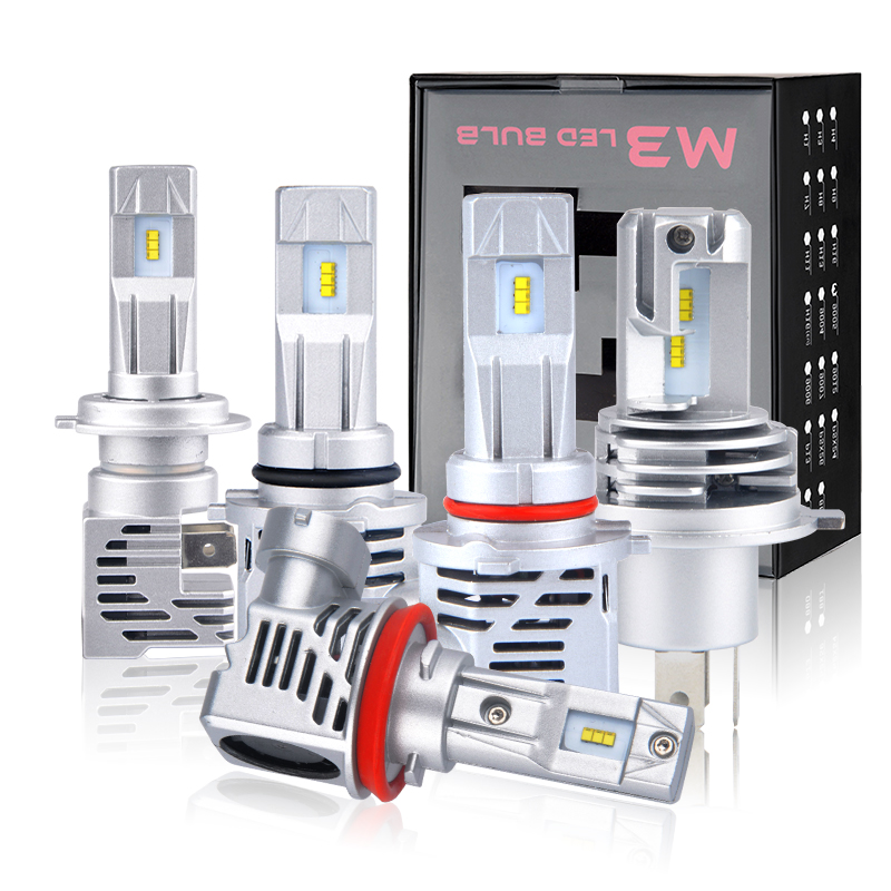 <font><b>LED</b></font> Car Headlight Bulbs H4 <font><b>H7</b></font> H11 H8 H9 9005 HB3 9006 HB4 Mini Size <font><b>LED</b></font> <font><b>Lamp</b></font> automotivo <font><b>55W</b></font> 12V 24V Fog Replacement <font><b>Lamp</b></font> image