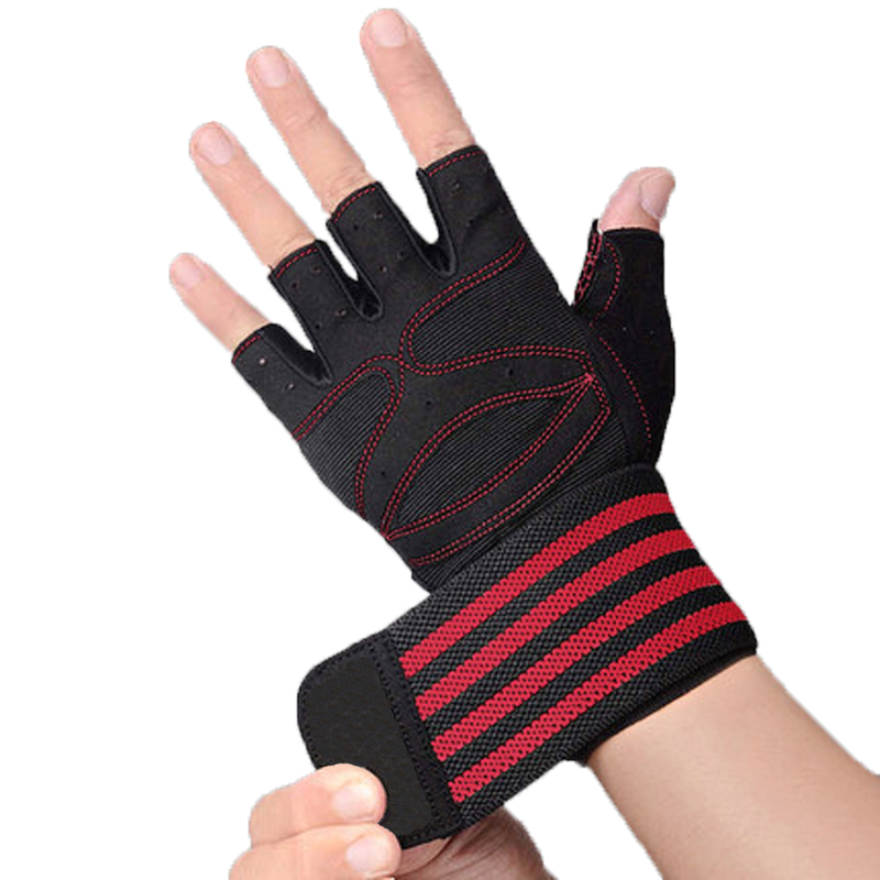 Men And Women Gym Gloves Breathable Workout Gloves With Wrist Support Anti-Slip Fitness Gloves For Weight Lifting Cross Training