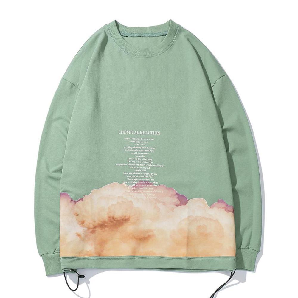 Letter Printed Sweatshirts Mens 2019 Autumn Harajuku Casual Cotton Pullover Fashion Hip Hop Long Sleeve Streetwear