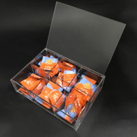 Customized 220x160x65mm Acrylic 6 Compact Tea Bag Storage Box