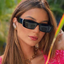 Унисекс прямоугольник Óculos de sol солнцезащитные очки женские
