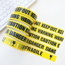 Ruban adhésif de sécurité, 24mm x 25m, 1/rouleau, avec prudence de Danger, barrière Fragile, autocollant bricolage, travail, pour centres commerciaux et écoles