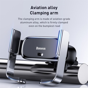 Image 2 - Baseus Car Phone Holder Air Vent Mount Support Bracket Car Charging for IP for Samsung Automatic Mini Car Phone Holder Accesorie