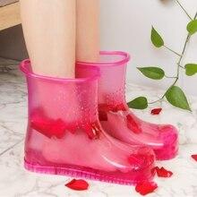 Hause Frauen Einweichen Füße Schuhe Tragbare Fußbad Massage Gesunde Schuhe Slip on Indoor Füße Pflege Entspannen Körper Paare schuhe