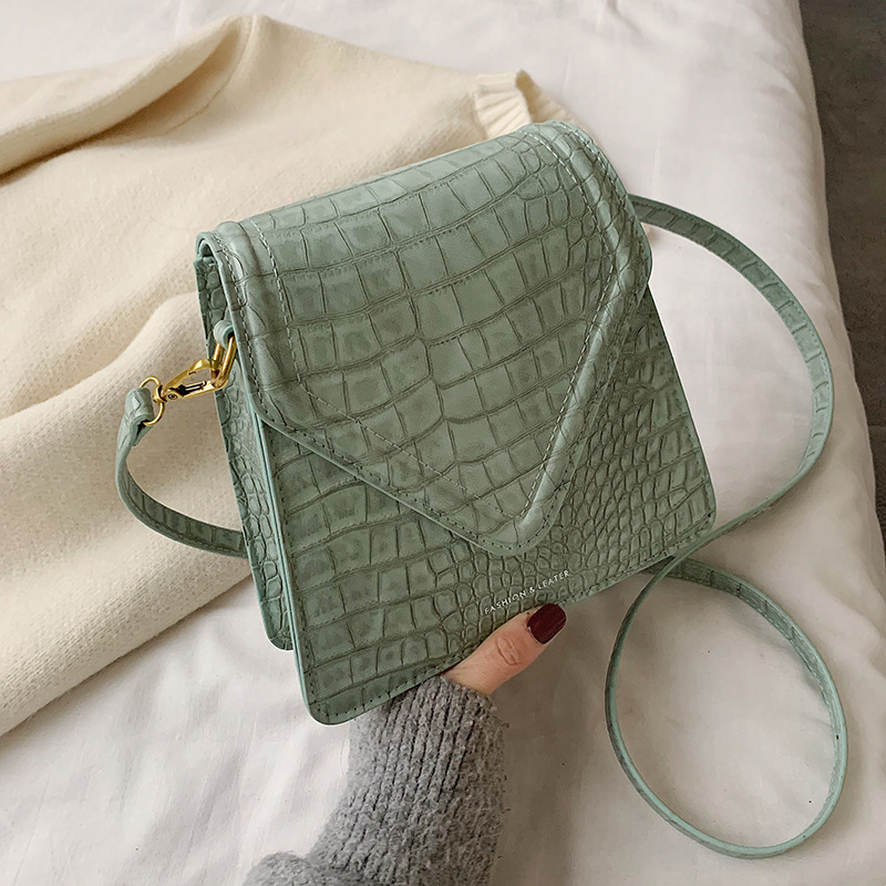 Women Handbag Female 2020 New Brand Retro Crocodile Pattern Square Shoulder Messenger Casual Vintage Designer Shoulder Bag